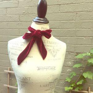 Set of 2!!! Maroon and lavender velvet scarf